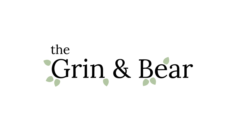 Grin & Bear: Website Mockup graphic